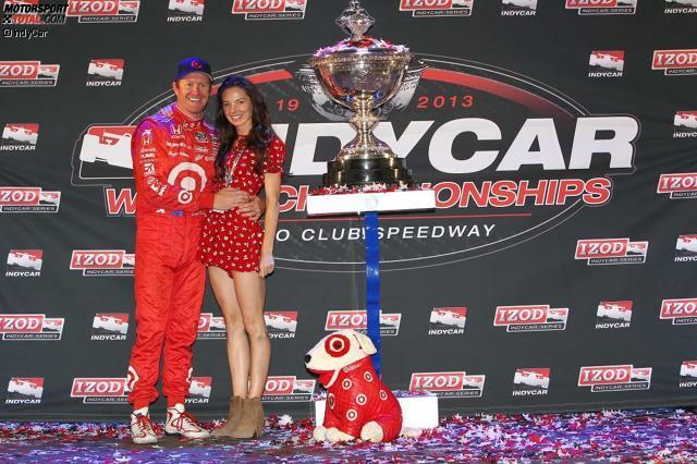 Scott Dixon (hier mit Ehefrau Emma) liebt und lebt scheinbar Fünfjahrespläne: Nach 2003 und 2008 holt sich der Neuseeländer 2013 seinen dritten IndyCar-Titel - mit einer unwiderstehlichen Aufholjagd in der zweiten Jahreshälfte.