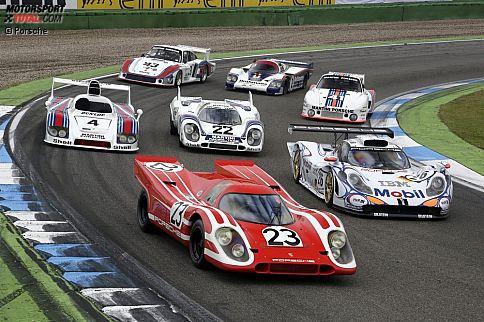 Porsche ist der bislang erfolgreichste Hersteller im Kampf um Gesamtsiege in Le Mans. 16 Mal wurden Piloten von einem Sportwagen aus Zuffenhausen zum Triumph an der Sarthe getragen.