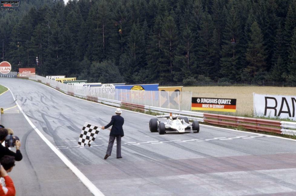 1963 fand erstmals ein Grand Prix von Österreich statt, damals noch auf dem Militärflugfeld in Zeltweg. Erst 1970 wurde an den legendären Österreichring übersiedelt. Sieger 1979: Alan Jones auf Williams.