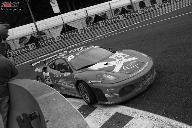 Im Ferrari 430 GT2 bei den 24 Stunden von Spa-Francorchamps 2006.