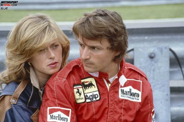 Rene Arnoux (hier 1983 mit Ehefrau Annette) wird am 4. Juli 1948 in Pontcharra in der Nähe von Grenoble geboren. Im Verlauf seiner zwölfjährigen Formel-1-Karriere bringt es der Franzose auf 149 Grand-Prix-Starts.