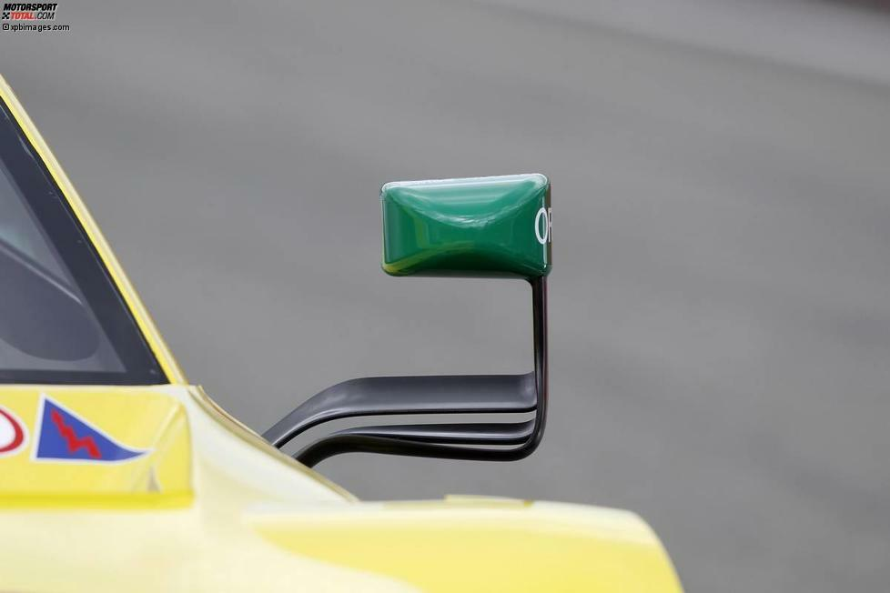Willkommen zur Rückspiegel-Parade der DTM 2014! Und den Anfang macht standesgemäß der Titelverteidiger: Am Auto von Mike Rockenfeller ist die Rückspiegel-Lösung von Audi zu erkennen.