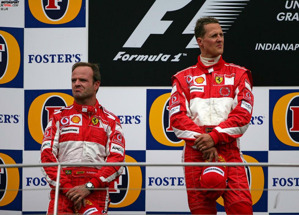 2005 wird in Indianapolis (unrühmliche) Formel-1-Geschichte geschrieben, als nach dem Rückzug der Michelin-bereiften Autos nur sechs Fahrzeuge in der Startaufstellung stehen. Dieses Skandalrennen versetzt der Formel 1 in den USA einen schweren Schlag, zwei Jahre später verabschiedet sich die Serie erst einmal aus dem Land der unbegrenzten Möglichkeiten.