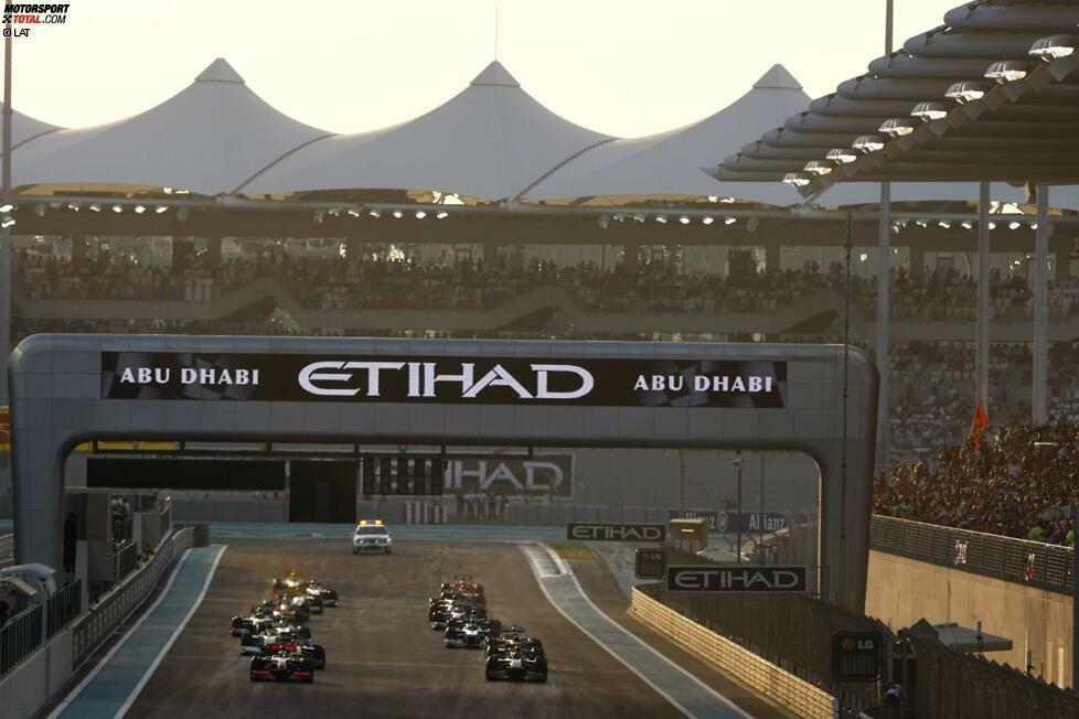 Am kommenden Wochenende steigt der sechste Grand Prix von Abu Dhabi. Das Debüt des Yas Marina Circuit im Formel-1-Kalender erfolgte am 1. November 2009.