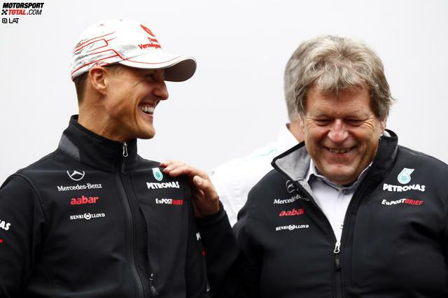 Das Engagement von Michael Schumacher und Norbert Haug steht dabei sinnbildlich für die jahrelange Vorbereitung, die letzten Endes zu diesem Titel geführt hat. Denn immer wieder betonen Fahrer und Verantwortliche, dass in den schwierigen Anfangsjahren der Grundstein für die heutige Dominanz der Silberpfeile gelegt wurde.