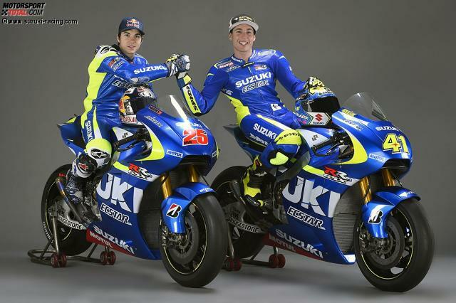 Nach drei Jahren Pause kehrt Suzuki mit einem völlig neu entwickelten Prototypen in die MotoGP zurück. Mit Maverick Vinales (25) und Aleix Espargaro (42) sind zwei vielversprechende Fahrer dabei.
