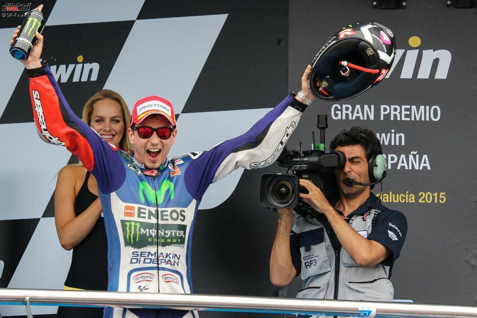 Jorge Lorenzo gewinnt souverän den Grand Prix von Spanien und holt seinen dritten Sieg in Jerez. Es ist sein erster Erfolg in der Saison 2015.