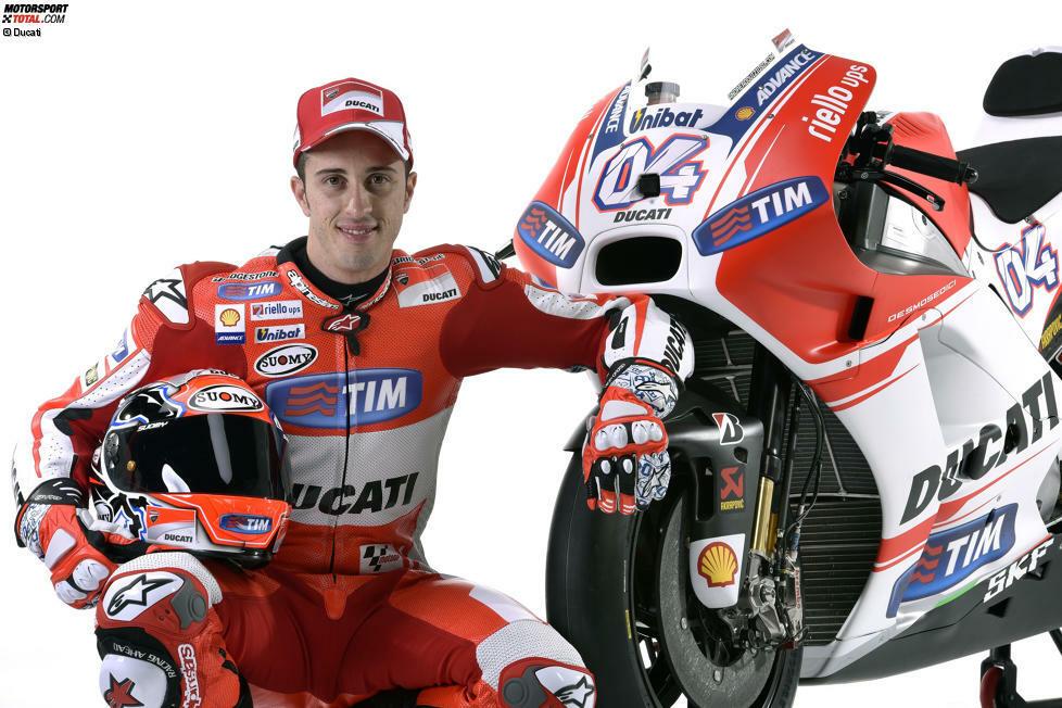 Andrea Dovizioso wurde am 23. März 1986 in Italien geboren. Obwohl er zwischen 2008 und 2016 nur zwei MotoGP-Rennen gewinnen kann, zählt er zu den Besten, hat aber nicht immer das beste Material zur Verfügung. Seine bisherige Karriere ist geprägt von Kampf und hartem Willen.
