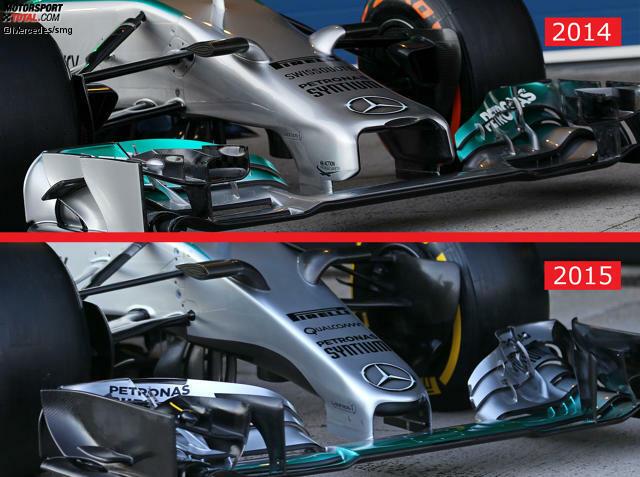 Finger ade! Die Formel 1 trägt neue Nasen, weil der Weltverband neue Regeln aufgestellt hat. Offiziell ging es dabei nicht darum, die hässlichen Varianten der Vorsaison verschwinden zu lassen, sondern die eigentliche Höhe zu erreichen, die für 2014 angedacht war. Einzig Mercedes hielt sich damals an den