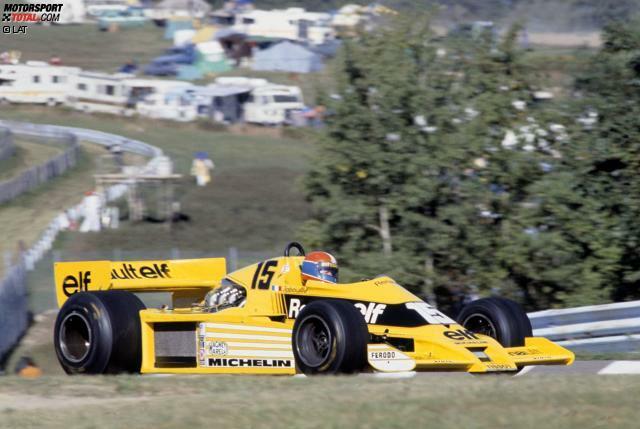 Mehr als ein Jahr nach dem Debüt gelingen Renault die ersten WM-Punkte. Beim Grand Prix der USA 1978 in Watkins Glen wird Jabouille, der im französischen Werksteam weiterhin Einzelkämpfer ist, Vierter. Bis zur nächsten Punkteplatzierung vergehen wiederum mehrere Monate, doch dafür ...