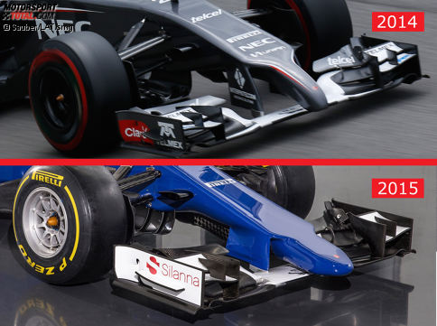 fotostrecke sauber c34 vs sauber c33 formel 1 bei motorsport. Black Bedroom Furniture Sets. Home Design Ideas