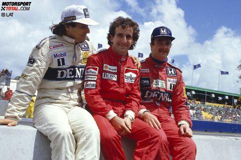 In der Saison 1986 schaffen es bei 16 Rennen neun Fahrer auf das Podest: Weltmeister Alain Prost (11 Podestplätze), Nelson Piquet (10) und Nigel Mansell (9) sowie Ayrton Senna, Stefan Johansson, Gerhard Berger, Jacques Laffite, Keke Rosberg und Michele Alboreto.