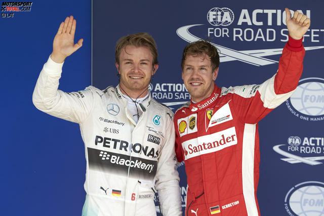 Tags zuvor holt Rosberg mit einer ebenso cleveren wie letztendlich souveränen Leistung die Pole-Position in Interlagos,