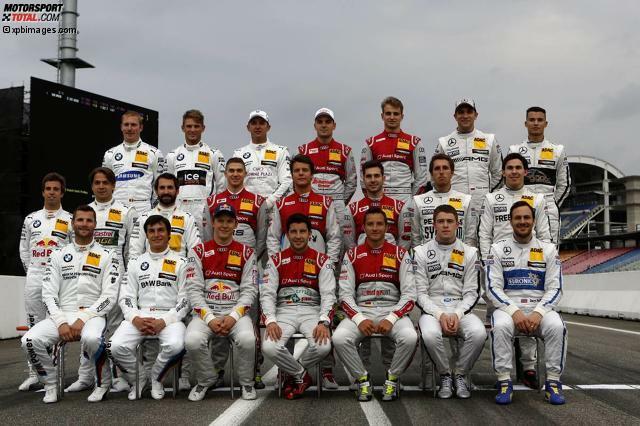 Mit diesem Foto haben sich die DTM-Piloten in der Saison 2014 in die Winterpause verabschiedet. Wer 2015 in den Fahrzeugen von Audi, BMW und Mercedes sitzt, erfahrt Ihr in dieser Fotostrecke!