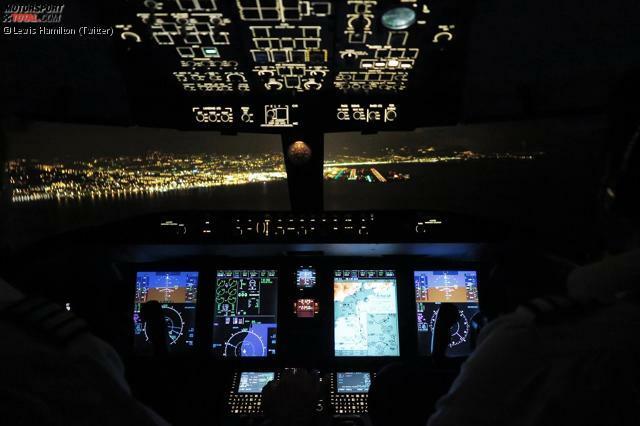 Es sollte das Wochenende des Lewis Hamilton werden, und er beginnt es - wie so oft - mit Twitter-Einblicken in sein Privatleben. Zum Beispiel ins Cockpit seiner Bombardier-Challenger 605 beim Landeanflug auf Austin.