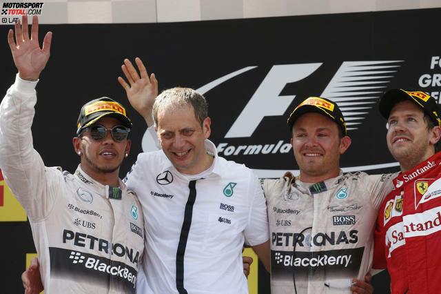 Zum 19. Mal im 25. Rennen gewinnt der Polesetter den Grand Prix von Spanien: Nico Rosberg triumphiert in Barcelona vor Lewis Hamilton und Sebastian Vettel. Und kommt in der Fahrer-WM vor seinem Lieblingsrennen in Monaco wieder bis auf 20 Punkte heran.