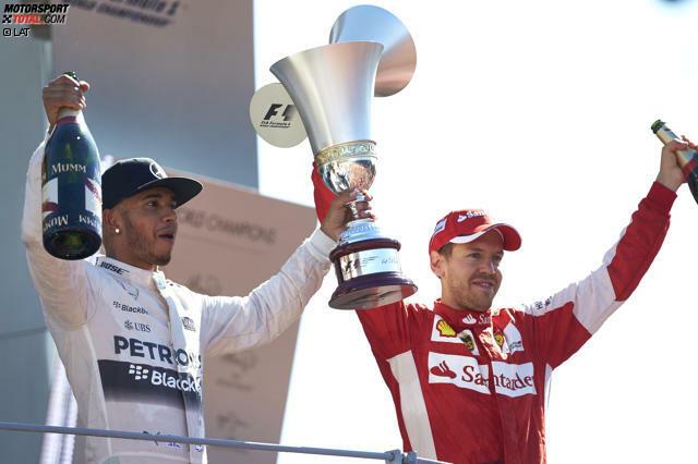 Monza 2015: Lewis Hamilton gewinnt den Grand Prix von Italien, hat nun 53 Punkte Vorsprung im Titelduell und eine Hand am WM-Pokal. Und Sebastian Vettel freut sich über sein erstes Monza-Podium als Ferrari-Fahrer. Den Tränen nahe sagt er: