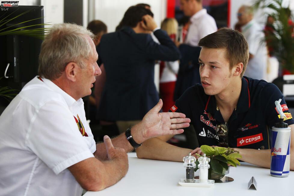 #8: Daniil Kwjat. Bevor der Formel-1-Nachwuchs Max-Verstappen-Ausmaße annimmt, sorgt 2014 erst einmal Daniil Kwjat für Aufsehen. Der russische Durchstarter hat im Formelsport gerade erst begonnen, sich einen Namen zu machen, da winkt ihm Red Bull schon mit einem Stammcockpit bei Toro Rosso. Mit 19 Jahren und 324 Tagen darf er bereits in Melbourne an den Start gehen. Nur ein Jahr später wird der Junior schon zum Senior und steigt 2015 in den Red Bull - nur um kurz darauf wieder degradiert zu werden.