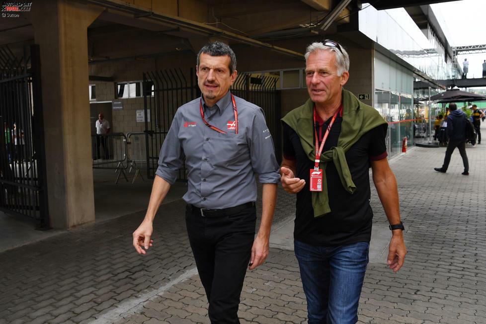 Für 'RTL' gibt Christian Danner (hier mit Haas-Teamchef Günther Steiner) seit vielen Jahren seine Einschätzungen ab. Der Bayer ist in der Formel 1 in 24 Grands Prix gestartet, aber ohne große Erfolge.