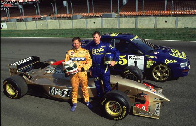 Alles beginnt mit einer verrückten Idee - und die kommt natürlich von Eddie Jordan: Der Ire lässt seinen Piloten Martin Brundle am 5. August 1996 das Cockpit mit dem zu diesem Zeitpunkt amtierenden Rallye-Weltmeister Colin McRae tauschen. In Silverstone dreht