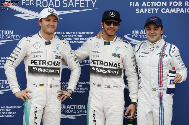 Neues Jahr, neues Glück? Weit gefehlt! Weltmeister Lewis Hamilton (0,6 Sekunden Vorsprung auf Nico Rosberg) und Mercedes zertrümmern im Qualifying in Melbourne die Konkurrenz. Erstverfolger Felipe Massa im Williams hat schon 1,4 Sekunden Rückstand. Sebastian Vettel gelingt als Vierter trotz Fahrfehler ein ordentliches Ferrari-Debüt.
