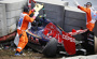 Fotostrecke - Horror-Crash von Carlos Sainz