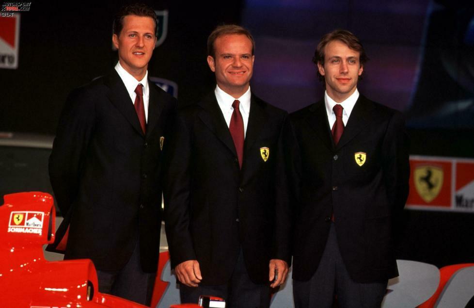 Zur Milleniumsaison spendiert Ferrari dem Deutschen erst einmal einen neuen Teamkollegen. Eddie Irvine, der den Titel ein Jahr zuvor knapp verpasste, verabschiedet sich zu Jaguar, der neue Mann heißt Rubens Barrichello. Der Brasilianer wird insgesamt sechs Jahre an der Seite des späteren Rekordchampions fahren. Mit ihm plant Ferrari den Angriff auf den damals großen Rivalen McLaren-Mercedes.