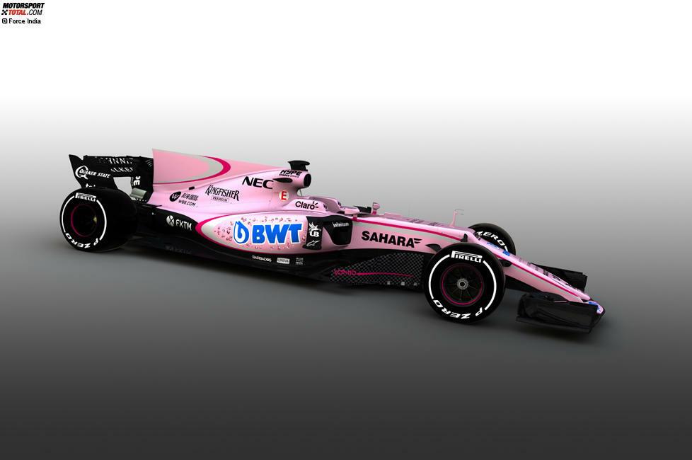 Force India überrascht vor der Saison 2017 dank neuem Sponsor mit einer Lackierung in Rosa! Die Mallya-Truppe sticht damit in diesem Jahr aus dem restlichen Feld heraus, doch in der Vergangenheit gab es noch deutlich verrücktere Ideen... Wir blicken zurück auf die ungewöhnlichsten Lackierungen der Formel-1-Geschichte!