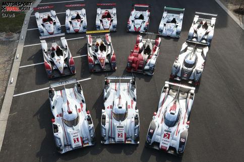 Audi feierte in 17 Jahren bei den 24 Stunden von Le Mans insgesamt 13 Gesamterfolge und ist somit die zweiterfolgreichste Marke an der Sarthe hinter Porsche