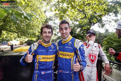 Renault e.dams (2015/16: 1.), Sebastien Buemi & Nicolas Prost: Sie gilt es zu schlagen! Die Franzosen haben im Vorjahr beide Meisterschaften eingefahren und sehen keinen Grund, warum das nicht noch einmal gelingen sollte. Bei den Testfahrten machten sie den besten Eindruck.