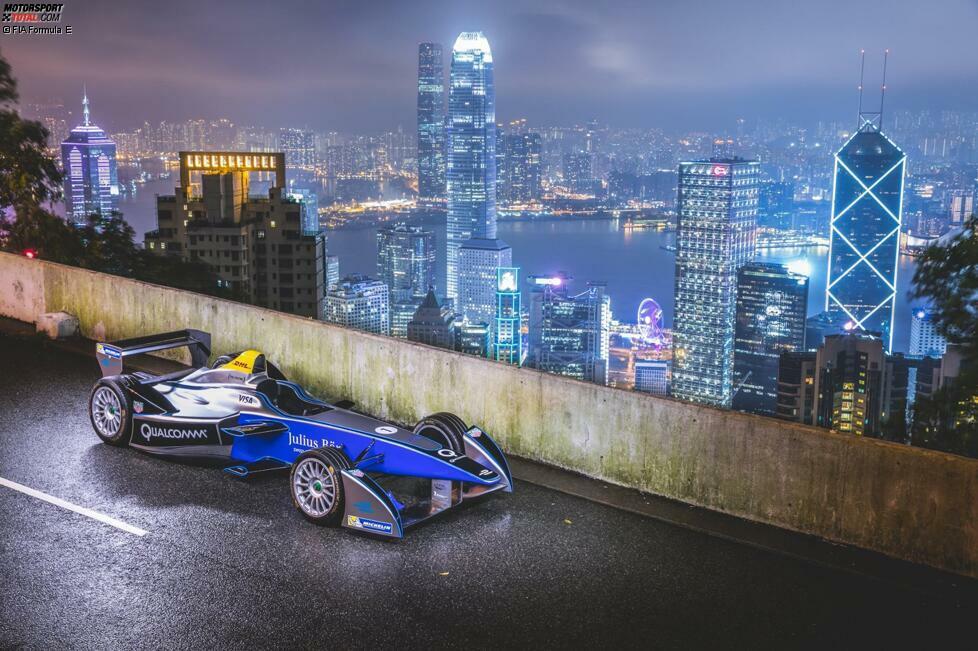 1. Hongkong (China) - 9. Oktober 2016: Schon lange steht fest, dass die Formel E ihre Saison in der chinesischen Sonderverwaltungszone von Hongkong beginnen wird, dafür aber nicht mehr um das Vogelnest in Peking fahren wird. Mit Sakon Yamamoto hat man 2015 zumindest schon einmal eine Präsentation dort abgehalten.