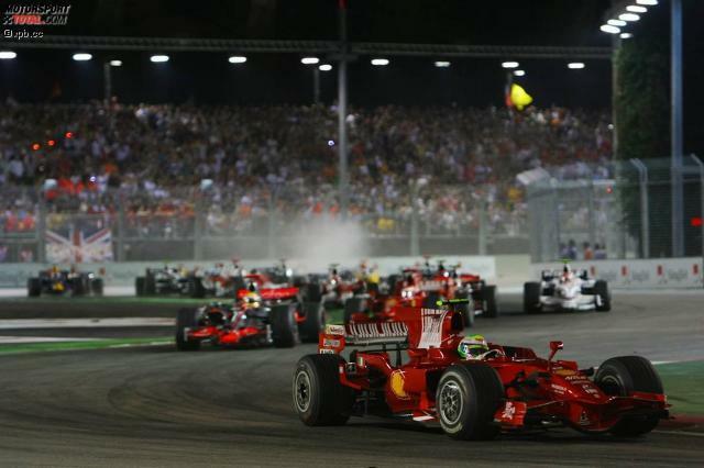 Dieses Jahr findet der neunte Grand Prix in Singapur statt. Seit 2008 (siehe Foto) ist das Rennen ein Fixpunkt im Kalender.