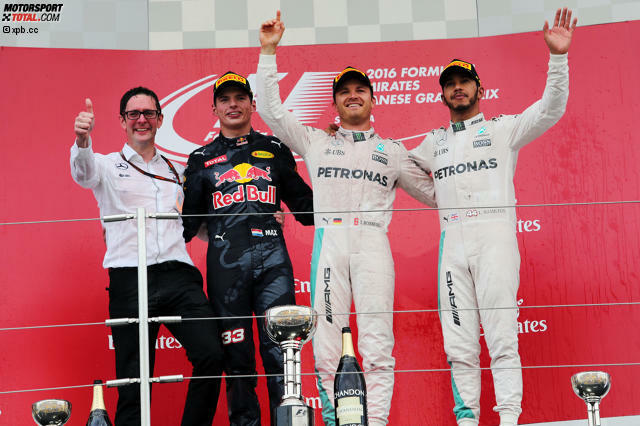 Mit einer Woche Verspätung ist es vollbracht: Mercedes entscheidet beim Grand Prix von Japan die Formel-1-WM 2016, gewinnt den Konstrukteurs- und auch den Fahrertitel. Offen ist nur noch, ob Nico Rosberg (33 Punkte Vorsprung) oder Lewis Hamilton Champion wird. Jetzt durch die Highlights des Rennens in Suzuka klicken!