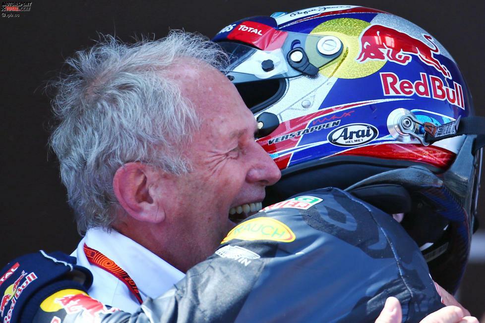 Helmut Marko ist der heimliche Sieger des Grand Prix von Spanien: Sechs Jahre nach Sebastian Vettel in Monza gewinnt wieder eine seiner