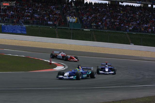 Grand Prix von Europa 2002 - P6: Nach den guten Erfahrungen mit Räikkönen holte Sauber zur Saison 2002 Felipe Massa als neues