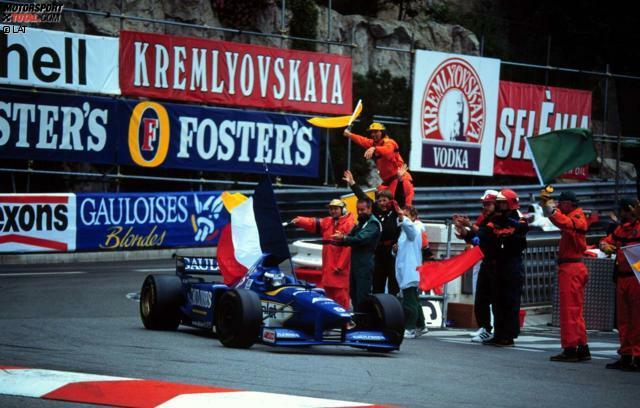 Olivier Panis erlebt am 19. Mai 1996 sein blaues Wunder in seinem blauen Auto. Wir erinnern am 20. Jahrestag des verrückten Monaco-Rennens an einen Grand Prix, bei dem nur drei Autos den Zielstrich überfuhren, kein Mensch mit dem letztendlichen Sieger rechnete und gleich zwei