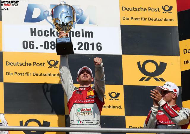 Hockenheim (Samstag): Edoardo Mortara (Audi) - Mit dem ersten Sieg des Jahres gibt der Italiener gleich einmal die Richtung für den weiteren Saisonverlauf vor. Er wird 2016 insgesamt fünf Rennen gewinnen und damit mehr als jeder andere Pilot!