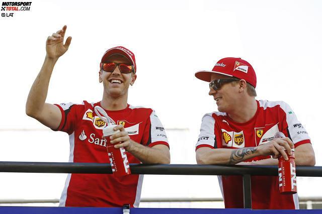 Social-Media-Muffel: Null Likes, Fans oder Abonnenten haben die beiden Ferrari-Piloten Sebastian Vettel und Kimi Räikkönen vorzuweisen. Der vierfache Weltmeister und der