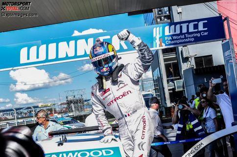 Platz 10: Sebastien Loeb - 6 Siege: Nach neun Titeln in der Rallye-Weltmeisterschaft wechselte Sebastien Loeb 2014 auf die Rundstrecke und stieg zusammen mit Citroen in die WTCC ein. Dieses Intermezzo seiner illustren Karriere sollte zwar nur zwei Saisons dauern, doch in deren Verlauf feierte Loeb immerhin sechs Siege.