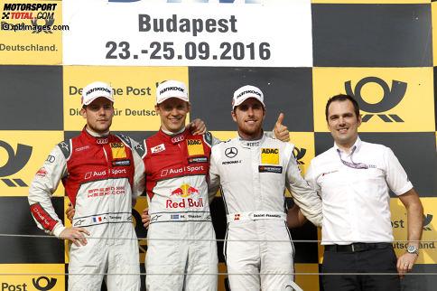 Hungaroring 2016, Rennen 2: Mattias Ekström (Abt-Audi) ist der glückliche Sieger auf dem Hungaroring.