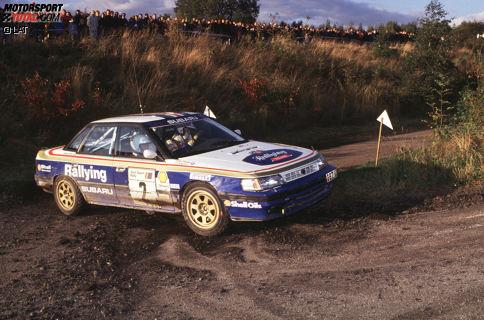 Seinen ersten WRC-Lauf bestreitet McRae in Schweden 1987 mit einem Vauxhall Nova. 1991 wird er von Prodrive-Boss David Richards unter Vertrag genommen; McRae wird 1991 und 1992 britischer Rallye-Meister.