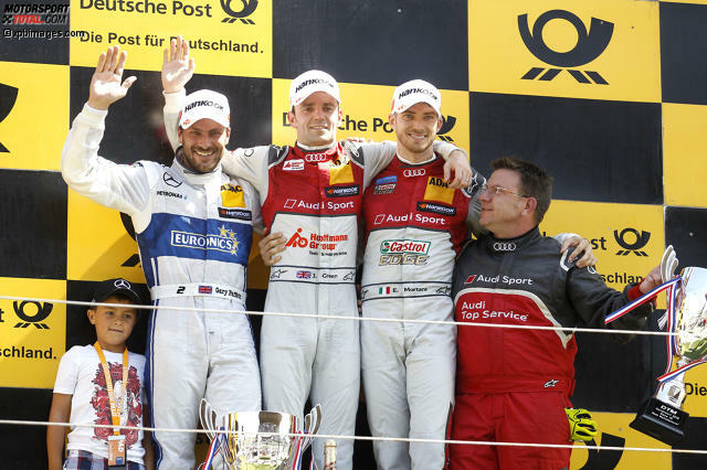 Zandvoort 2016, Rennen 2: Nach seinem Start von der Pole-Position gewinnt Jamie Green (Audi) sein elftes DTM-Rennen.