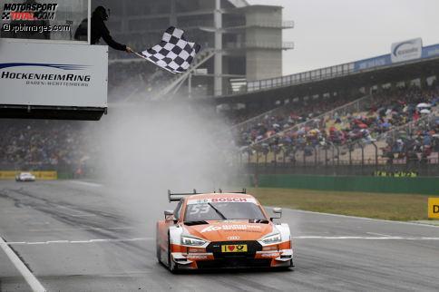 Saisonauftakt Hockenheim 2017, Rennen 2: Jamie Green (Audi) gewinnt zum fünften Mal in Hockenheim und ist damit der erfolgreichste aktuelle DTM-Pilot im badischen Motodrom.