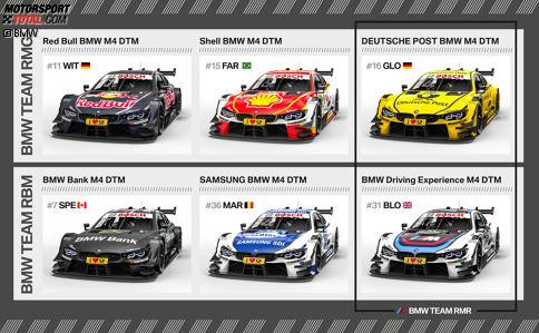 Die Teams und Designs von BMW für die DTM-Saison 2017 in der Übersicht