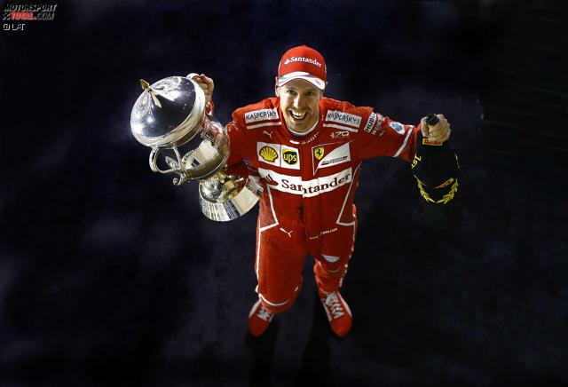 Drittes Rennen, zweiter Sieg, zum dritten Mal das schnellste Auto: Sebastian Vettel feiert nach 2012 und 2013 seinen dritten Triumph in Bahrain und übernimmt die alleinige WM-Führung vor Lewis Hamilton. Außer den beiden war 2017 noch keiner Erster oder Zweiter. Jetzt durch die Highlights klicken!