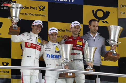 Die DTM-Saison 2017 bringt zwölf verschiedene Sieger hervor: Champion Rene Rast gewinnt drei Rennen. Genauso viele wie Lucas Auer...