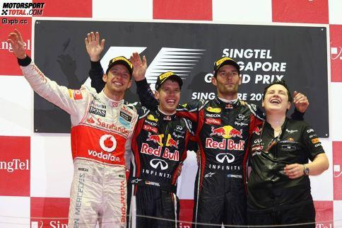 Red Bull ist mit drei Siegen (2011 bis 2013) das erfolgreichste Team in Singapur. Ferrari (2010 und 2015) und Mercedes (2014 und 2016) gewannen je zweimal, Renault (2008) und McLaren (2009) waren einmal erfolgreich.