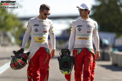 Es herrscht Klarheit: Lucas di Grassi und Daniel Abt bleiben auch nach der Übernahme beim neuen Audi-Rennstall an Bord! Der Deutsche wird sogar mit einem Werksvertrag belohnt. Wie das Fahrerkarussell der Formel E sonst so aussieht, zeigen wir dir in der Fotostrecke.