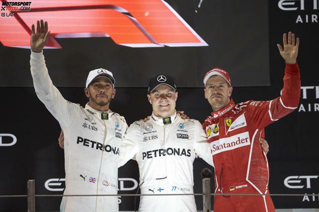 Die Highlights zum Durchklicken: Dritter Sieg für Valtteri Bottas, keine Chance für Lewis Hamilton. Der verzweifelt beim Versuch, seinen Mercedes-Teamkollegen zu überholen: