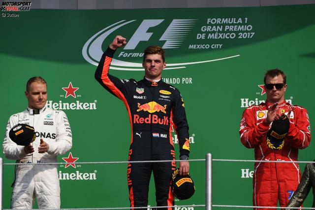 Zum ersten Mal seit Fuji 1976 wird der neue Weltmeister überrundet. Aber das kümmert Max Verstappen wenig. Er gewinnt zum dritten Mal ein Formel-1-Rennen.